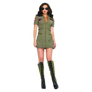Leg Avenue Top Gun Flight Dress Costume - M